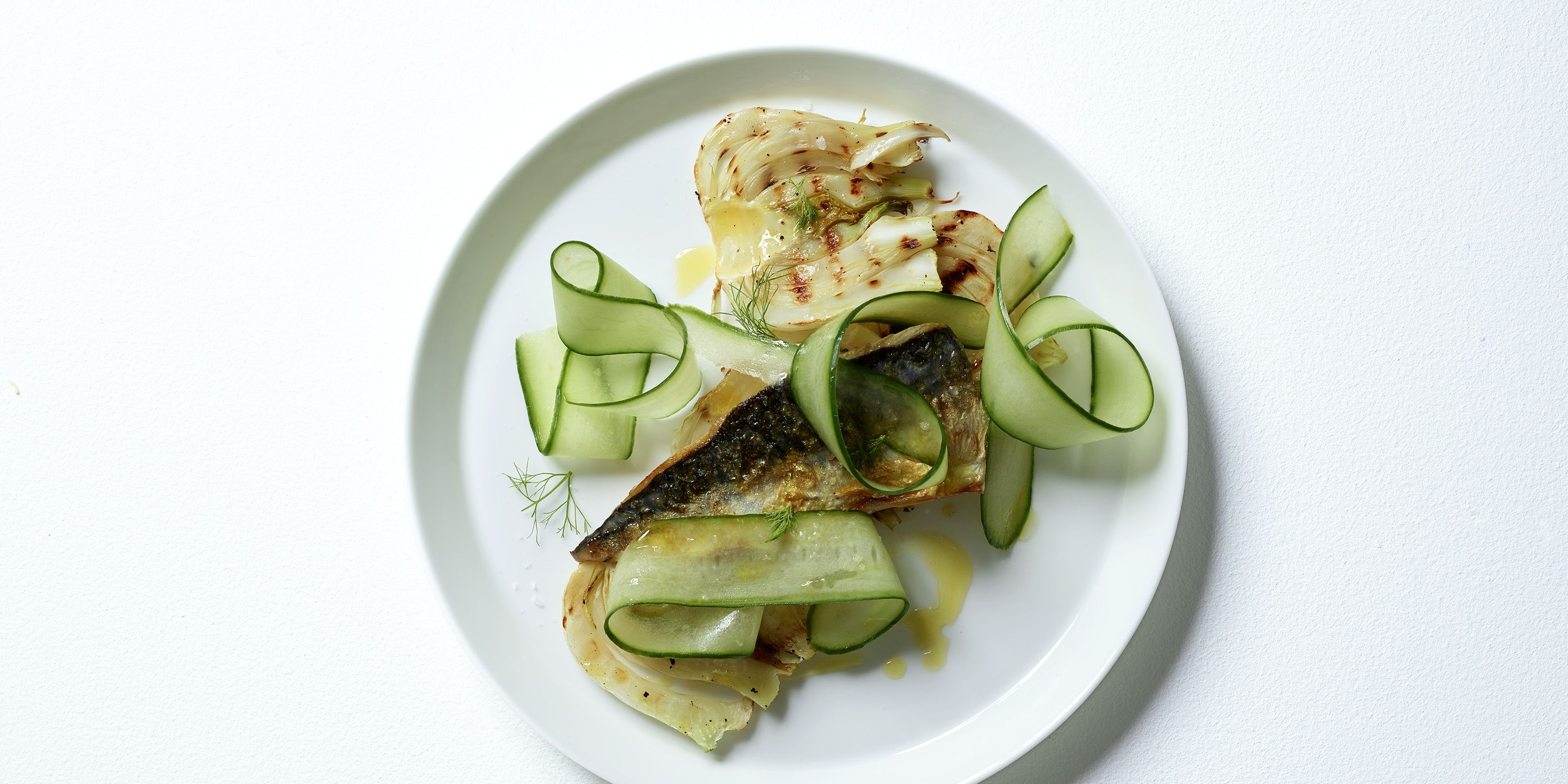 Mackerel fennel and cucumber salad