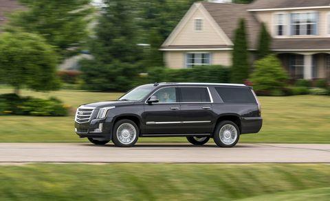 2018 Cadillac Escalade ESV driving