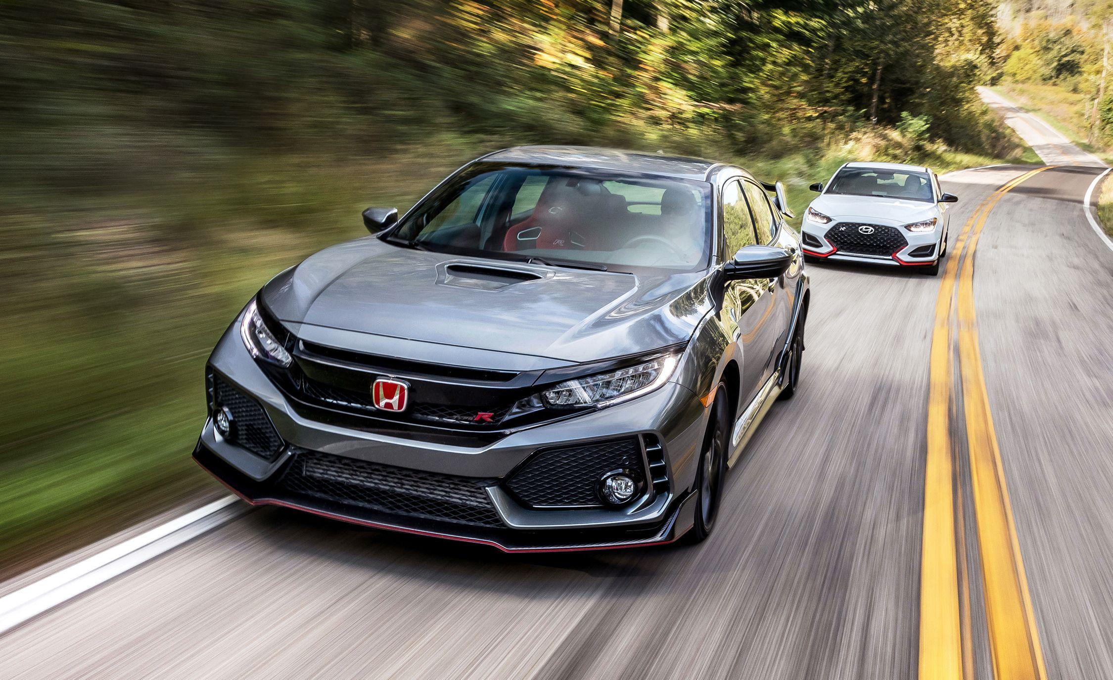 The 2019 Hyundai Veloster N Versus the Honda Civic Type R