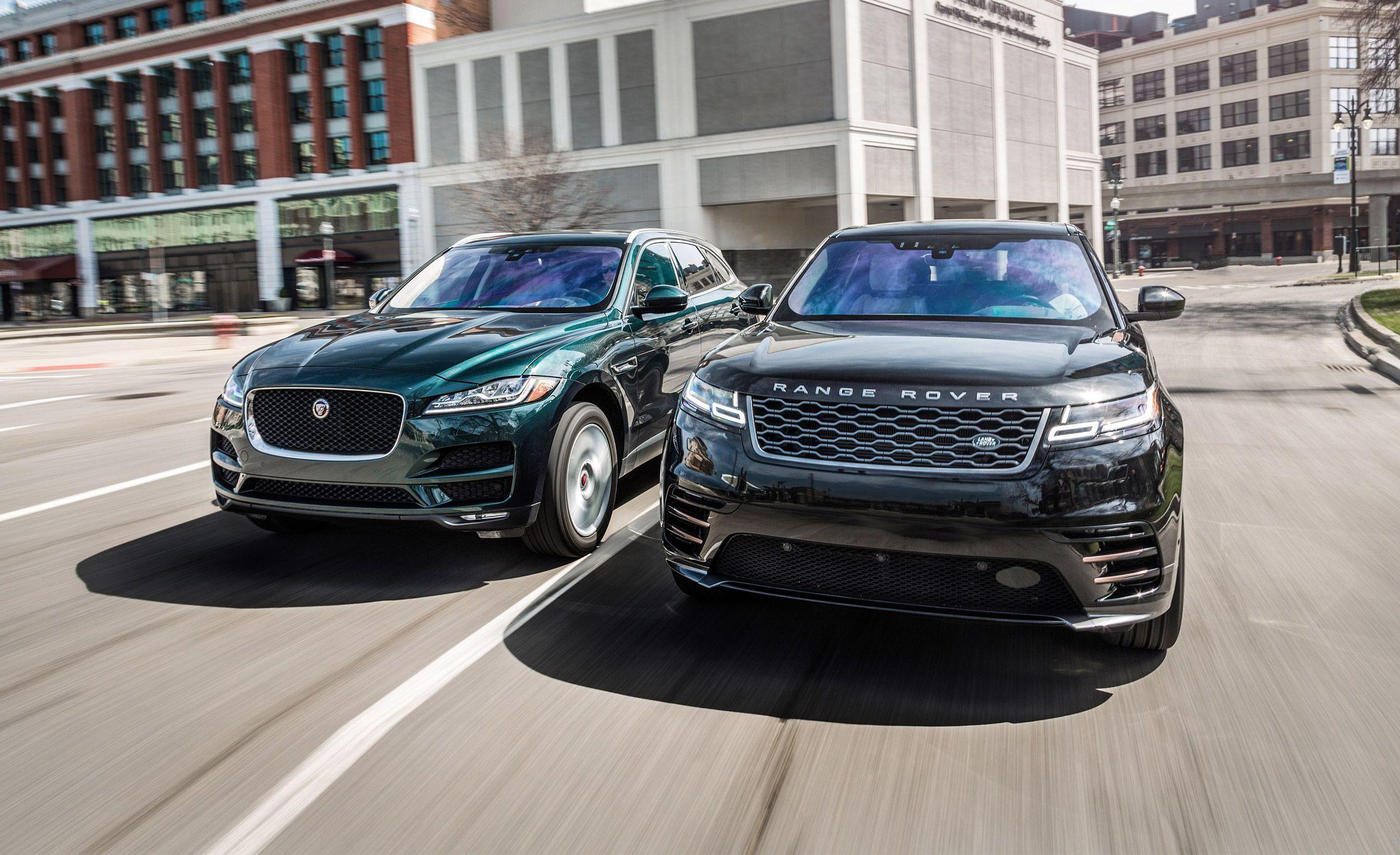 Jaguar F Pace Vs Range Rover Velar Comparison Test Car And Driver