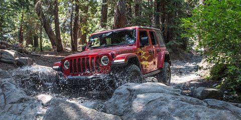 2018 Jeep Wrangler Rubicon on the Rubicon Trail