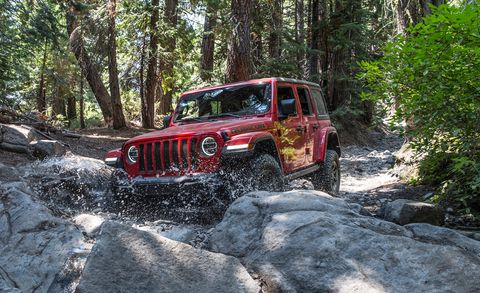 New Jeep Wrangler on Rubicon Trail - JL Wrangler Rock Crawling