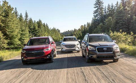 2018 Mazda Cx 9 2019 Subaru Ascent And Chevrolet Traverse