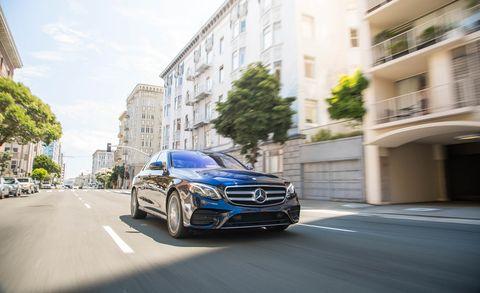 2017 Mercedes-Benz E300 sedan driving