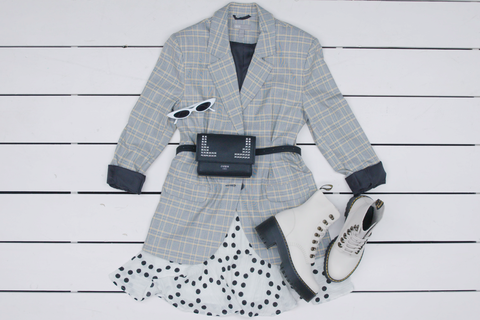 White, Clothing, Outerwear, Fashion, Pattern, Design, Coat, Pattern, Sleeve, Black-and-white,