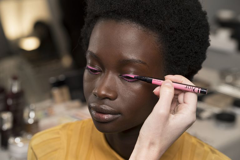 74b95f7a1193e Dior Fall 2018 Backstage Beauty Breakdown - Hair and Makeup Dior Fall 2018