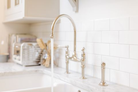 Tap, Room, Property, Tile, Product, Bathroom, Floor, Interior design, Flooring, Architecture,