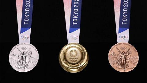 Medal, Gold medal, Award, Bronze medal, Silver medal, Trophy, Badge, Metal,
