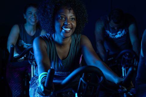 Parkinson's Revolution indoor cycling class