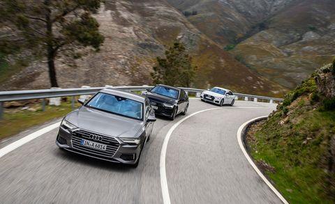 Land vehicle, Vehicle, Car, Automotive design, Luxury vehicle, Audi, Mid-size car, Executive car, Family car, Road,