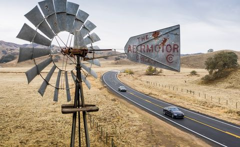 Windmill, Mill, Wheel, Transport, Wind, Wind turbine, Architecture, Rural area, Landscape, Road,