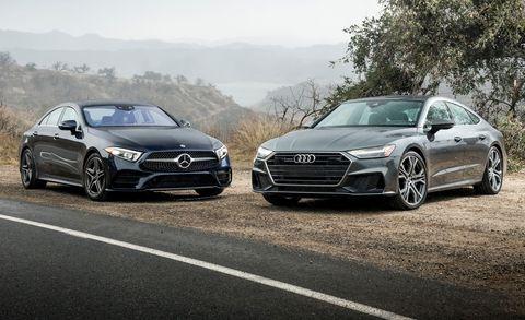 2019 Audi A7 Vs 2019 Mercedes Benz Cls450 4matic Luxury Coupe Battle