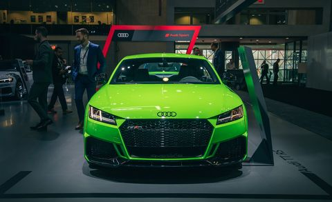 Land vehicle, Vehicle, Car, Automotive design, Auto show, Audi, Sports car, Audi tt, Performance car, City car,