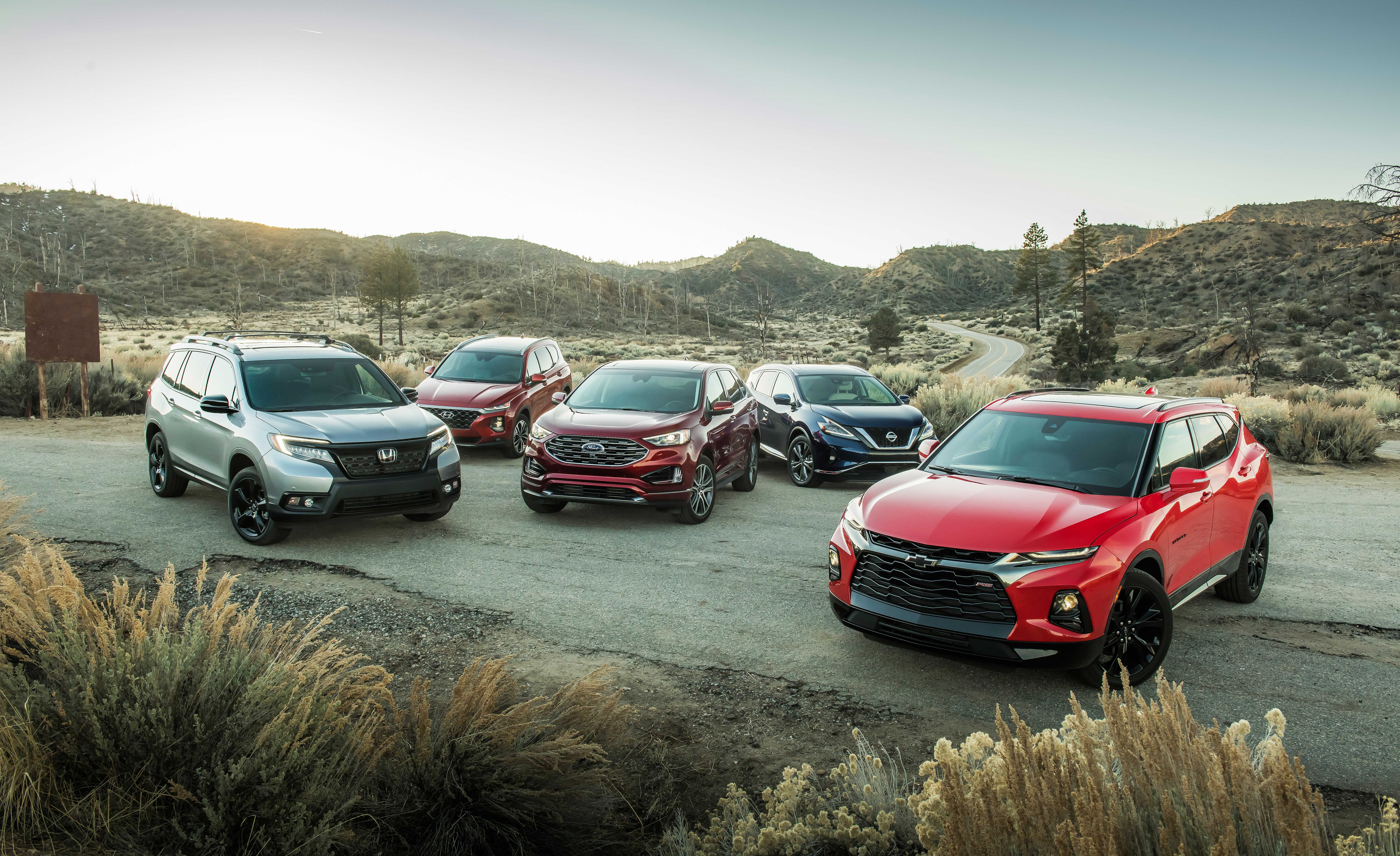 2019 Ford Edge Vs Hyundai Santa Fe Vs Nissan Murano Vs Honda Passport