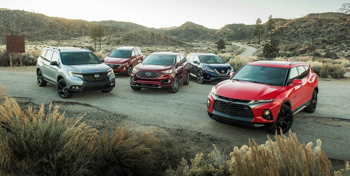 2019 Ford Edge vs. Hyundai Santa Fe vs. Nissan Murano vs ...