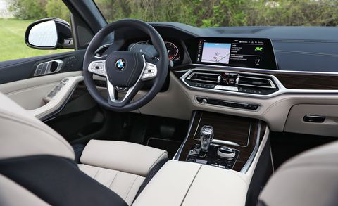 Land vehicle, Vehicle, Car, Luxury vehicle, Motor vehicle, Personal luxury car, Center console, Steering wheel, Bmw, Rear-view mirror,