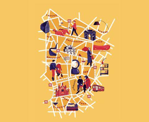 Una mappa del Brera Design District 2019