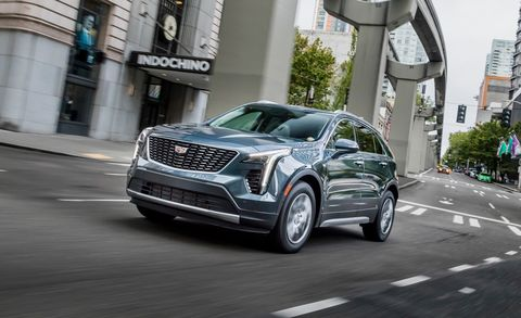 2019 Cadillac Xt4 Driving Shot