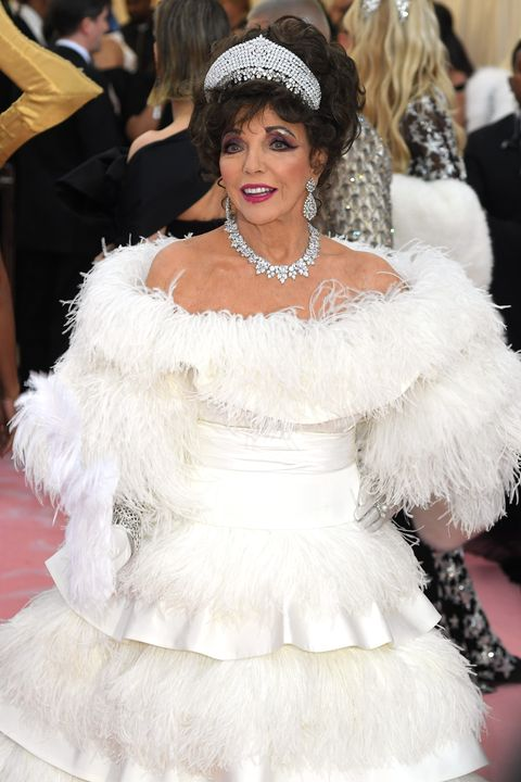 new york, new york   may 06 joan collins attends the 2019 met gala celebrating camp notes on fashion at the metropolitan museum of art on may 06, 2019 in new york city photo by karwai tangwireimage