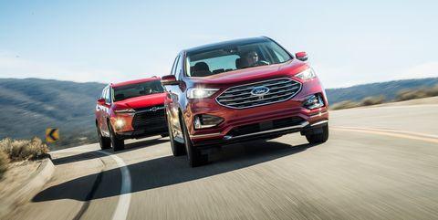 2019 Chevrolet Blazer Vs 2019 Ford Edge Top Mid Size Suvs Compared