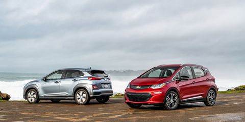 Chevrolet Bolt Ev Vs Hyundai Kona Electric