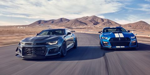 2020 Ford Mustang Shelby GT500 vs. 2019 Chevy Camaro ZL1 1LE Photos