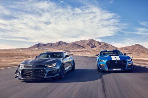 Betting on the Ponies: Mustang GT500 versus Camaro ZL1 1LE