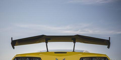 Vehicle, Yellow, Automotive exterior, Car, Hood, Bumper, Automotive design, Muscle car, Wheel, Chevrolet corvette c6 zr1,