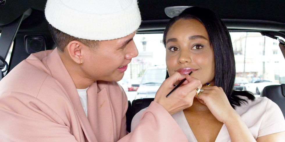 We Challenged Patrick Ta to Do a Glowy Makeover in the Back of a Moving Car
