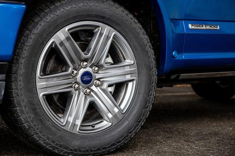 Land vehicle, Alloy wheel, Tire, Rim, Spoke, Wheel, Automotive tire, Vehicle, Auto part, Blue,