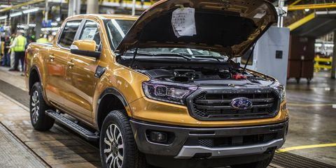 2019 Ford Ranger production