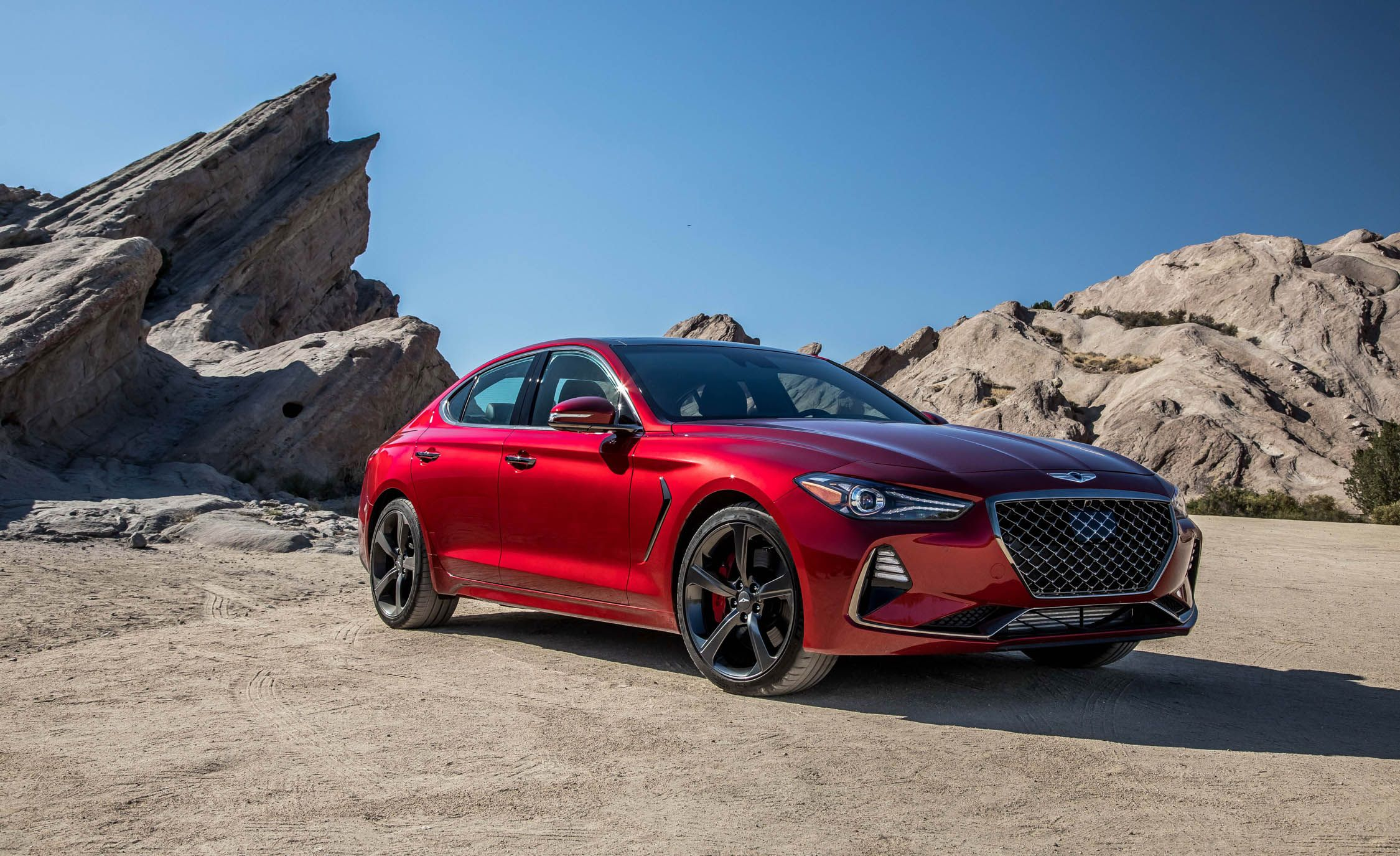 1. Genesis G70 The Genesis G70 is the Korean luxury brand's first real attempt at taking down BMW. It is a sports sedan aimed squarely at the iconic 3-series, and it's a knockout freshman effort.