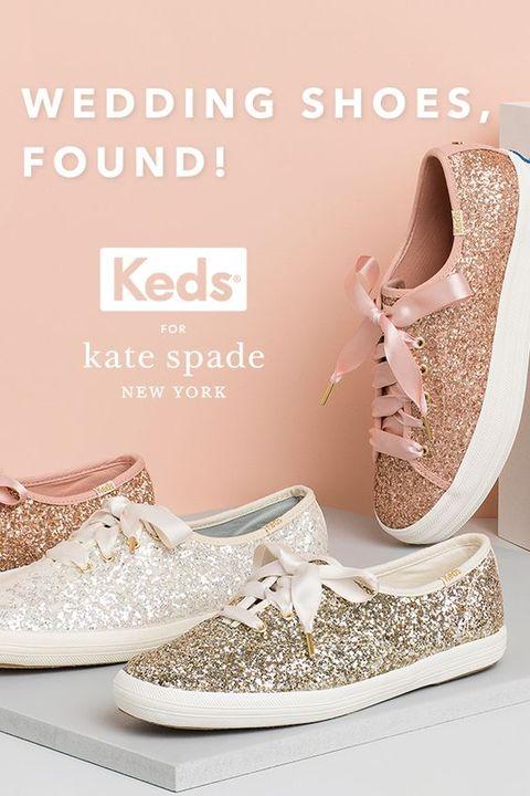 Kate Spade, 婚鞋, keds, 亮片, 休閒鞋, 緞帶球鞋