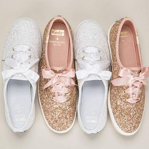 Kate Spade, bridal collection, keds, 亮片, 休閒鞋, 緞帶鞋