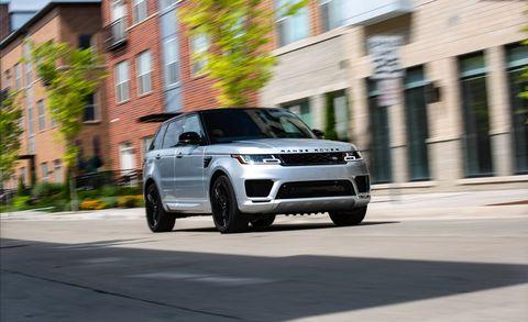 Land vehicle, Vehicle, Car, Automotive design, Range rover evoque, Sport utility vehicle, Motor vehicle, Range rover, Rim, Land rover,
