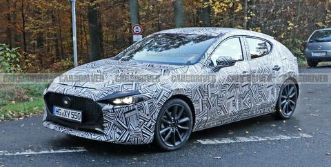 2019 Mazda 3 Spy Shots New Compact Hatchback Pictures