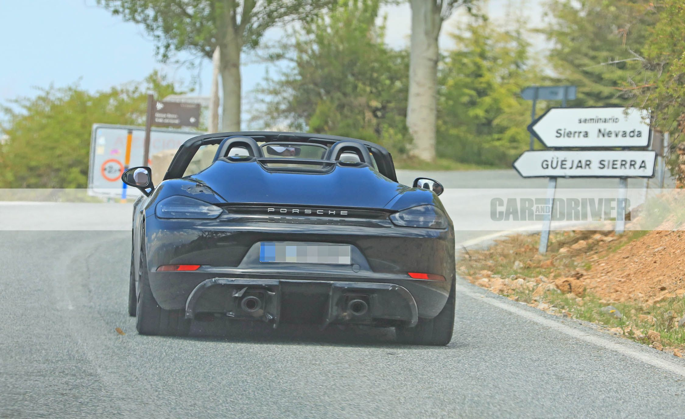 2019 Porsche 718 Boxster Spyder Spy Photos News Car And Driver
