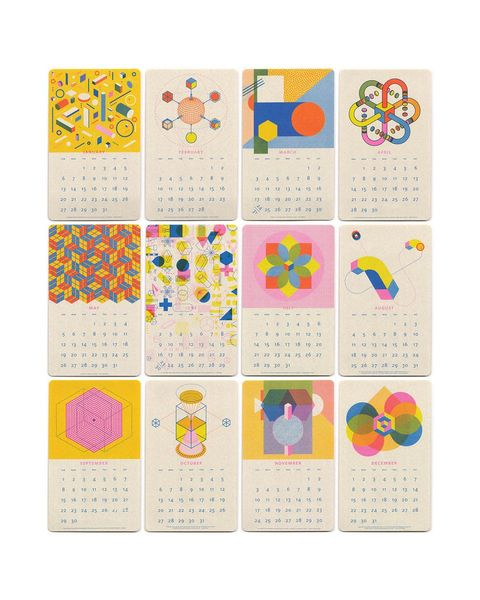 Calendario 2019 Isometric Calendar