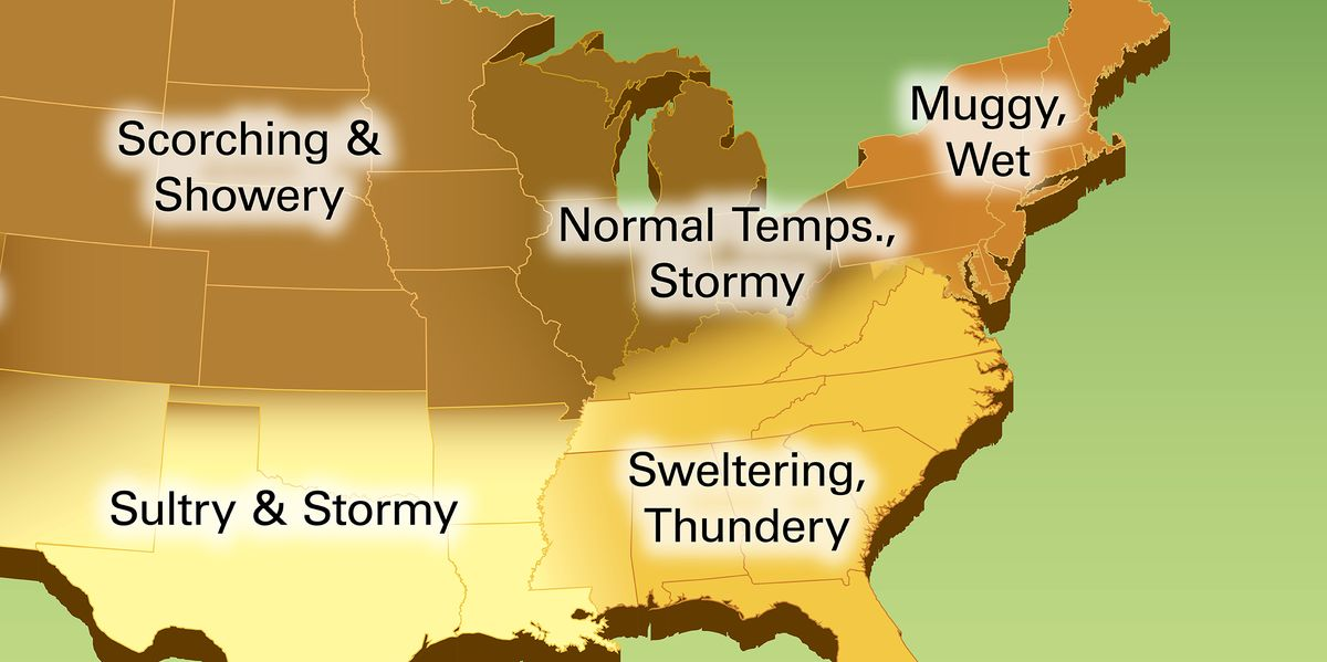 Summer 2019 Is Going To Be Extra Hot Farmers Almanac Releases - Us-humidity-map