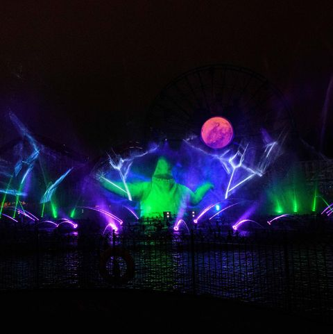 disney world of color show during oogie boogie bash