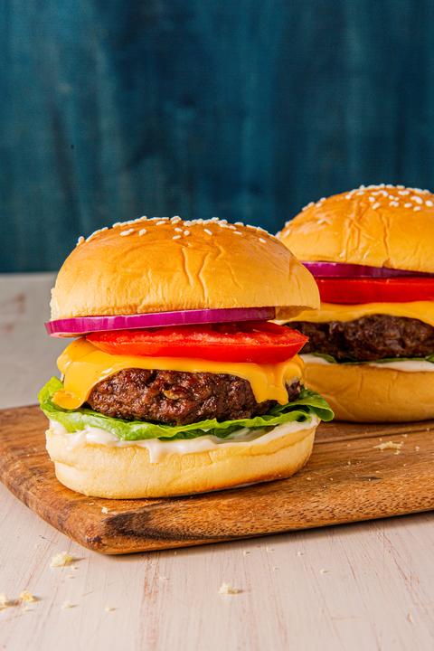 Air Fryer Cheeseburger - Delish.com