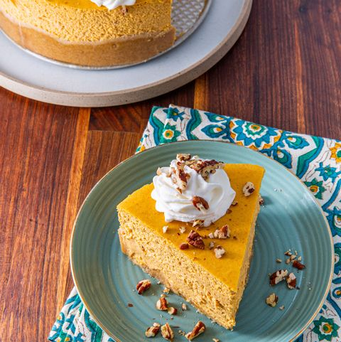 Keto Pumpkin Cheesecake - Delish.com