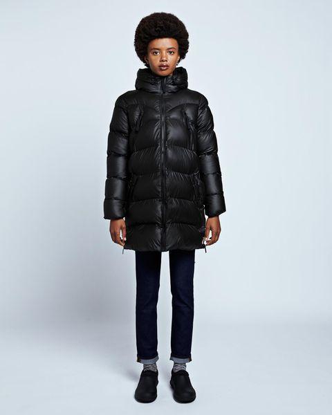 hunter black puffer jacket coat outerwear