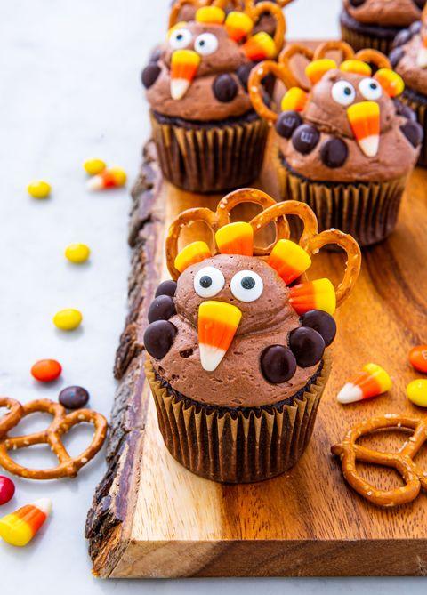 Turkey Cupcakes - Delish.com