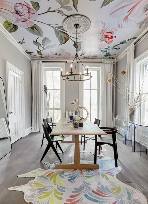 Room, Ceiling, Interior design, White, Furniture, Property, Floor, Dining room, Yellow, Building,