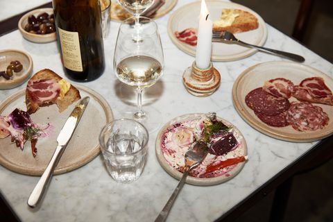 Food, Dish, Cuisine, Brunch, Cicchetti, Wine glass, Ingredient, Charcuterie, appetizer, Meal,