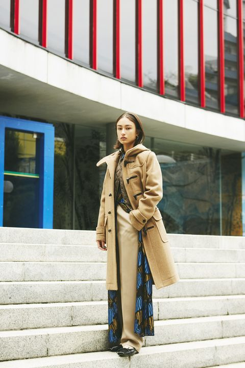 Street fashion, Trench coat, Clothing, Red, Fashion, Coat, Snapshot, Outerwear, Footwear, Photography,
