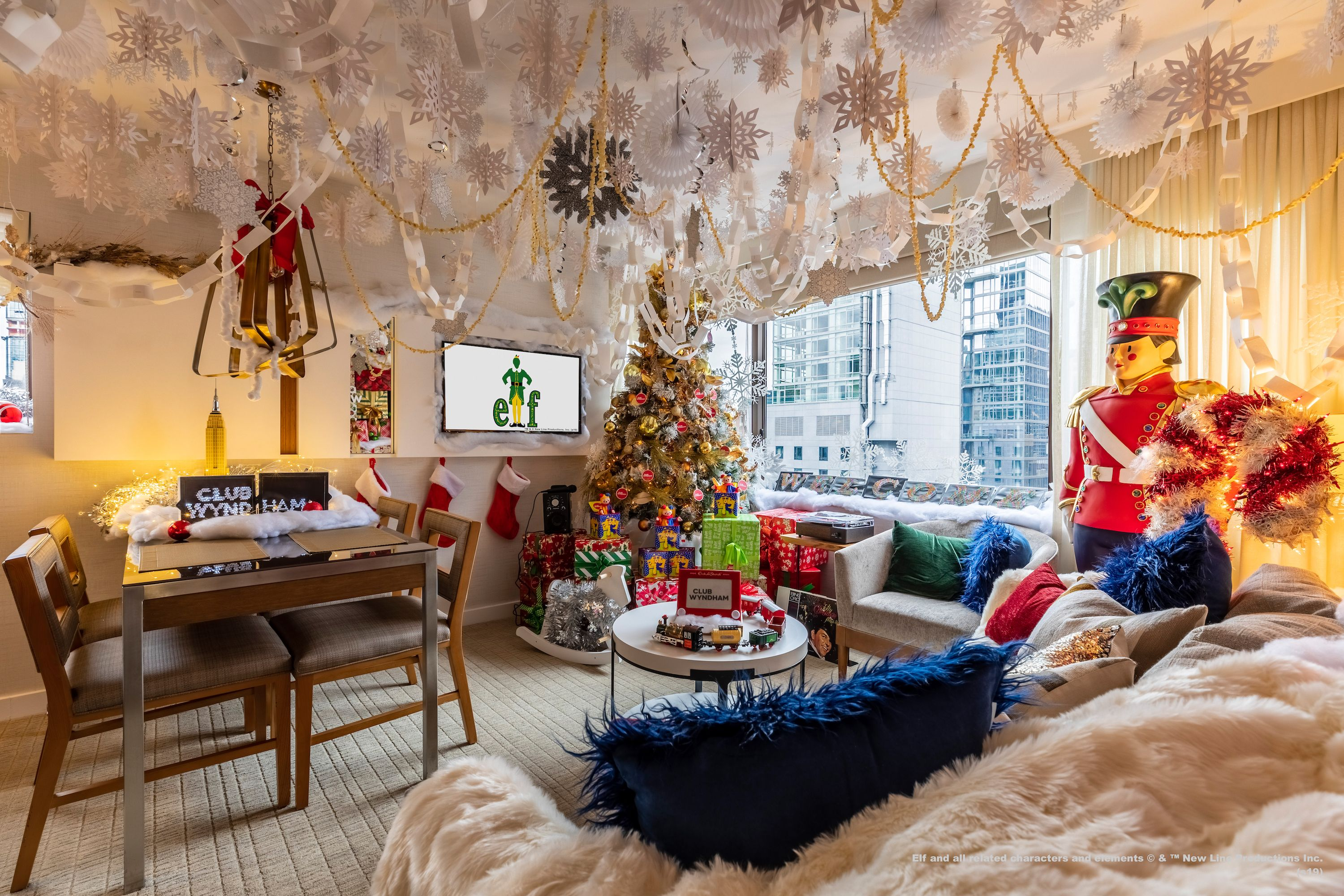 This Elf-Inspired Suite Includes A Fully Stocked Candy Kitchen And Literally All The Christmas Decorations