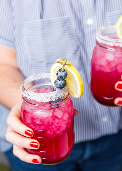 blueberry lemonade margaritas   delishcom