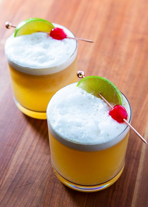 Ginger Lime Whiskey Sour - Delish.com